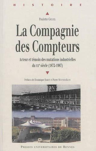 La Compagnie des compteurs : Acteur et témoin des mutations industrielles françaises ...