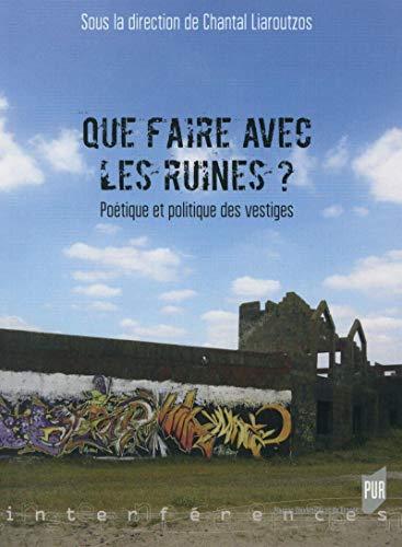9782753540279: Que faire avec les ruines ? : Poétique et politique des vestiges