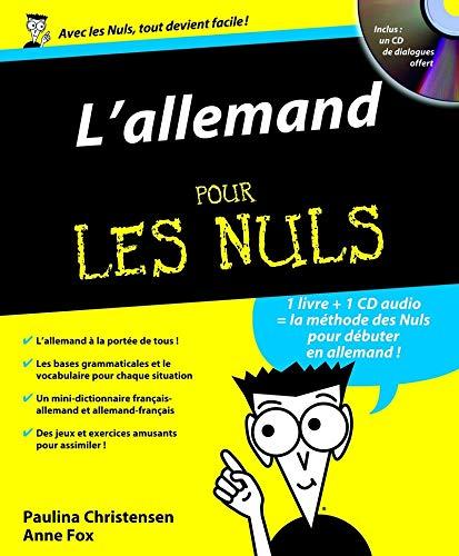 9782754000383: L'allemand pour les nuls (1CD audio) (French Edition)