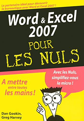 9782754004374: Word et Excel 2007 pour les Nuls (French Edition)
