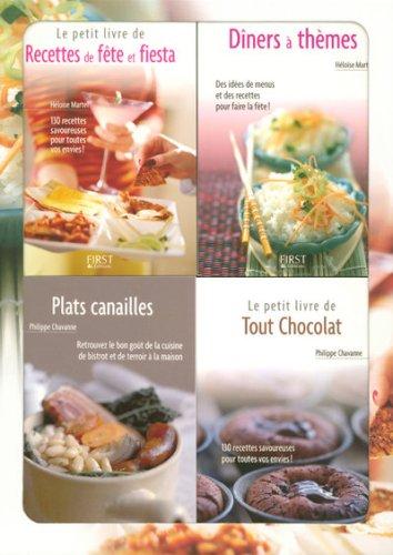 9782754005500: Le petit coffret Cuisine de fêtes ! : Coffret en 4 volumes : Dîners à thèmes ; Recettes de fête et fiesta ; Plats canailles ; Tout chocolat