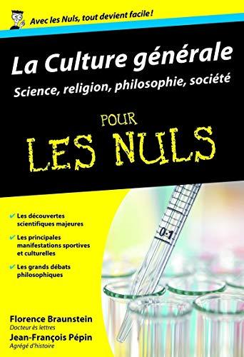 9782754007993: Culture générale Poche Pour les nuls Tome 2 : sciences, sports, loisirs et spiritualité (02)