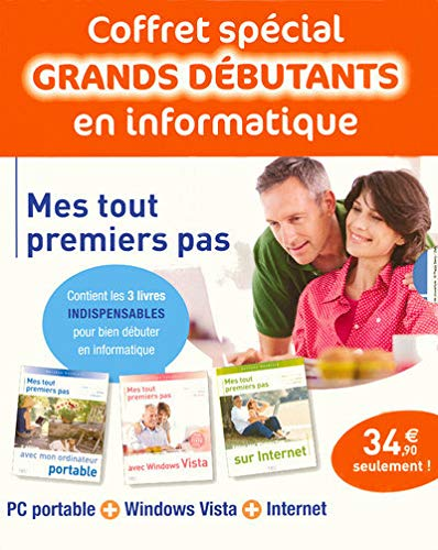 9782754010306: Mes tout premiers pas : Coffret 3 volumes : Ordinateur portable + Windows Vista + Internet