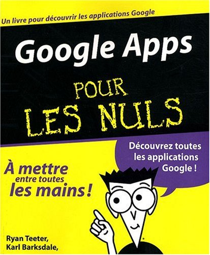 9782754012232: Google Apps pour les nuls (French Edition)