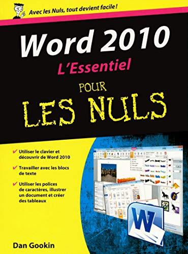 9782754021555: Word 2010 L'Essentiel pour les nuls