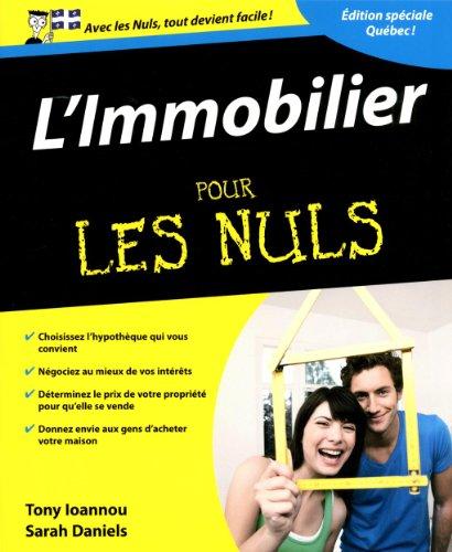 L'immobilier pour les nuls édition québécoise