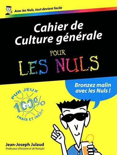 9782754038904: Culture générale 2012 Cahiers Pour les Nuls