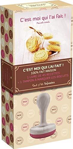 9782754041102: Coffret c'est moi qui l'ai fait ! : 1 livre de 45 recettes + 1 tampon à marquer les biscuits