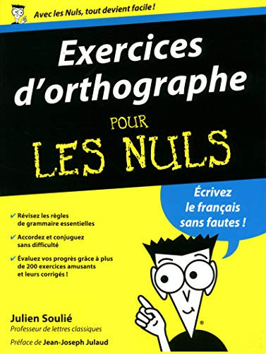 9782754053907: Exercices d'orthographe pour les nuls