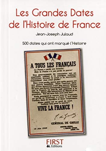 9782754054553: Petit Livre de - Grandes dates de l'Histoire de France, 2e