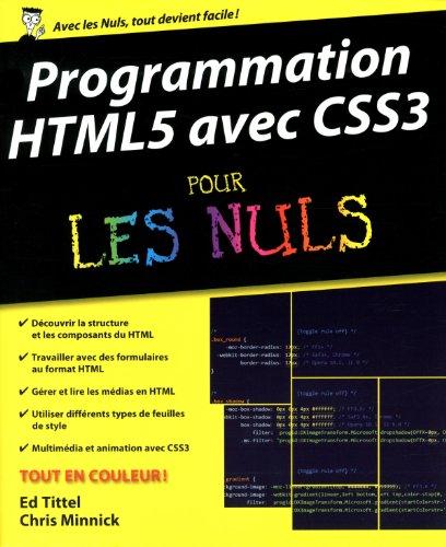 Programmation HTML5 avec CSS3 pour les nuls: Tittel Ed