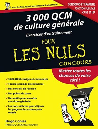 3000 QCM DE CULTURE GENERALE -: Hugo Coniez