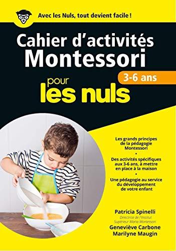 9782754087889: Cahiers d'activités Montessori pour les nuls : 3-6 ans