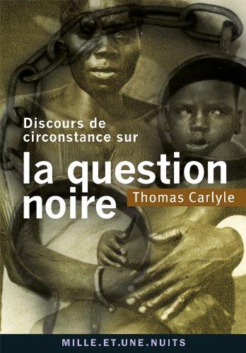 9782755505733: Discours de circonstance sur la question noire