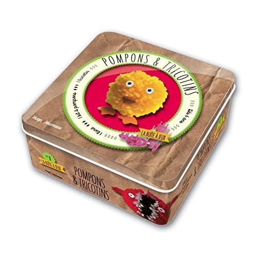 9782755614589: Pompons et tricotins : 1 livre + 1 tricotin et 1 kit à pompons