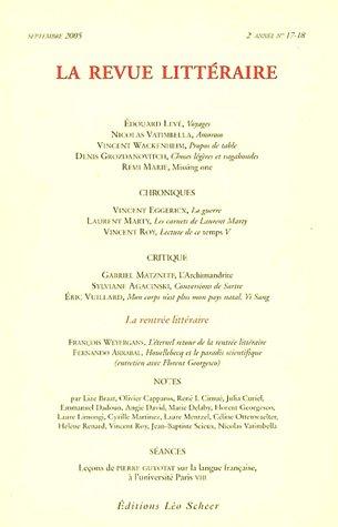 Revue Littéraire, numéro 17-18 - Septembre 2005