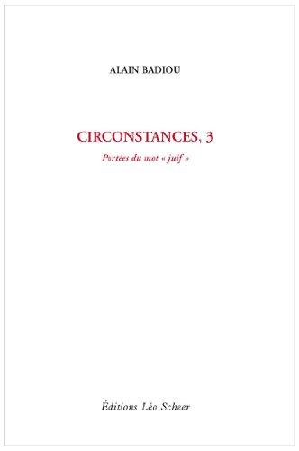 9782756101798: Circonstances : Tome 3, Port�es du mot