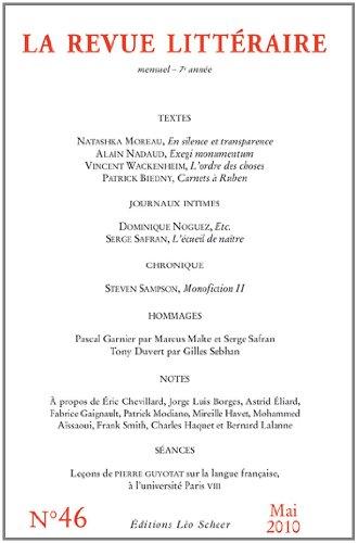 La Revue littà raire n°46 [Paperback] [Apr: Collectif