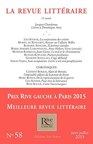 9782756107349: Revue Litteraire N 58 Juin-Juillet 2015