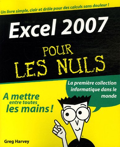 9782756800349: Excel 2007 pour les nuls (French Edition)