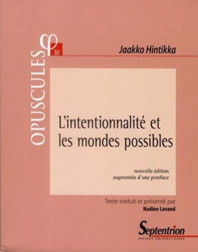 9782757403587: L'intentionnalité et les mondes possibles