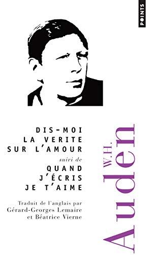 9782757812181: Dis-Moi La V'Rit' Sur L'Amour Suivi de Quand J''Cris Je T'Aime (English and French Edition)
