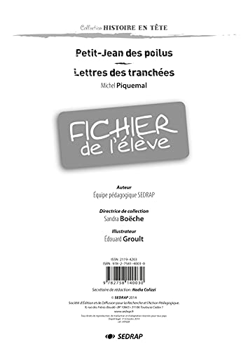 Petit-Jean des Poilus- Fichier