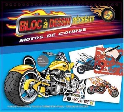 9782758308348: Motos de course bloc � dessin r�cr�atif