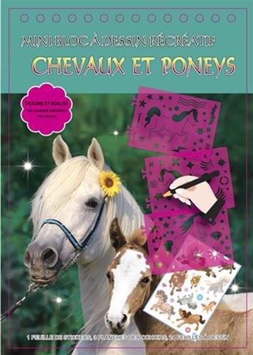 9782758308607: Chevaux et poneys : Mini bloc à dessin récréatif