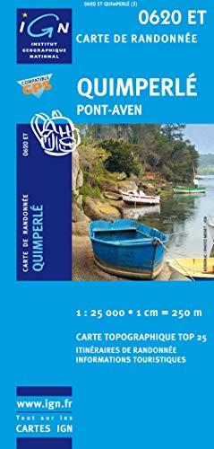 9782758505297: Quimperle / Pont-Aven 2007: Ign.0620et (Top 25 & série bleue - Carte de randonnée)