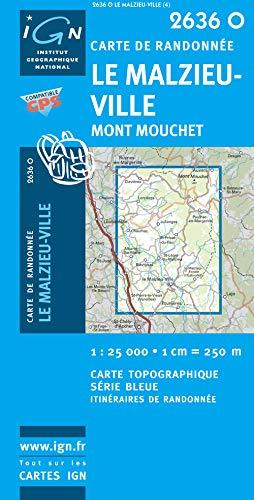 le Malzieu ville-mont Mouchet ; 2636 O: Institut Geographique National
