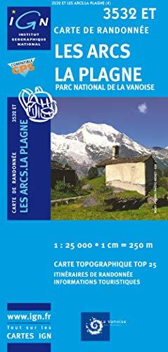 9782758510642: Les Arcs/La Plagne/PN de la Vanoise GPS: IGN.3532ET (Top 25 & série bleue - Carte de randonnée)