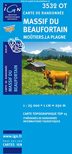 9782758510659: Massif du Beaufortin/Moutiers/La Plagne GPS: IGN.3532OT