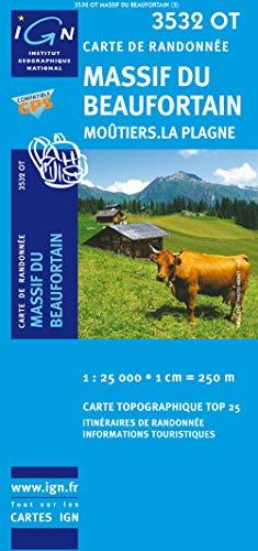 9782758510659: Massif du Beaufortin / Moûtiers / La Plagne gps: IGN.3532OT