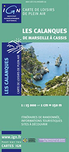 9782758511564: 82011 les Calanques de Marseille a Cassis  1/15.000