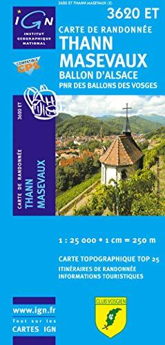 9782758514183: Thann Masevau 1 : 25 000: Ballon d'Alsace. PNR des Ballons des Vosges (Top 25 & série bleue - Carte de randonnée)