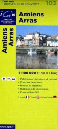 9782758515029: 103- Amiens/ Arras 1:100,000 (English, French and German Edition)