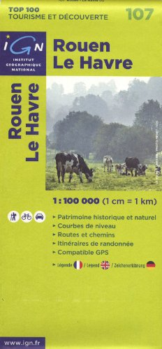 9782758515067: 107- Rouen/Le Havre 1:100,000 (English, French and German Edition)