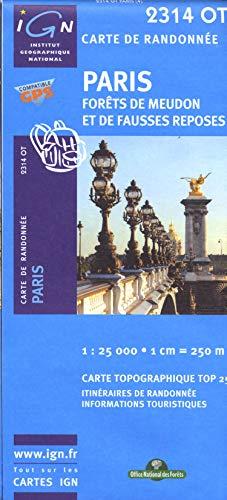 9782758518273: Paris / Forêts de Meudon et de Fausses Reposes gps (Ign Map)
