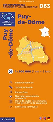 9782758520115: D63 Puy-de-Dome 1/200.000