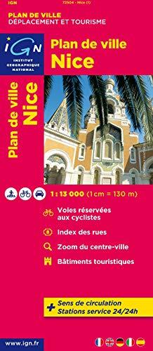 9782758520498: Nice City Plan IGN 2012 (English, Spanish, French, Italian and German Edition)