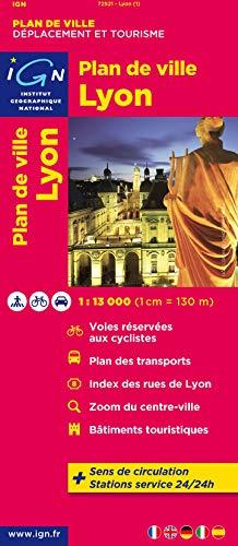 9782758520665: Plan de Lyon/Villeurbanne 1/13.000 IGN (English and French Edition)