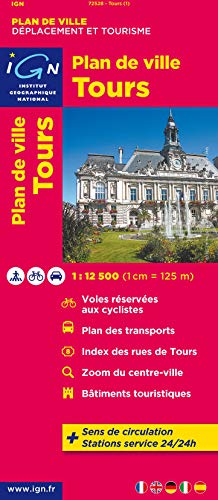 9782758520733: Tours City Plan 1: 12,5K IGN (English and French Edition)