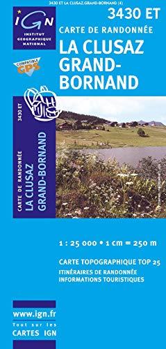 La Clusaz / Le Grand-Bornand 1 : 25 000: Institut Geographique National