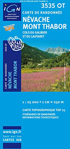 9782758522775: Névache, Mont Thabor, Cols du Galibier et du Lautaret : 1/25 000 (Carte de Randonnée)