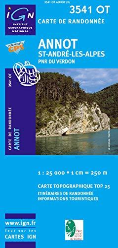 9782758522812: Annot / St-Andre les Alpes / PNR du Verdon 2012: IGN.3541OT