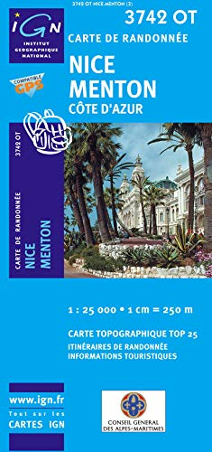 Nice / Menton / Cote D'Azur: IGN3742 Top25 (French Edition): Institut Geographique ...