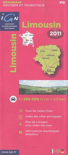 LIMOUSIN 2011 - CARTE ROUTIERE IGN