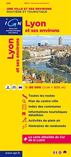 9782758523956: Lyon & Surroundings 1:80K IGN (English and French Edition)