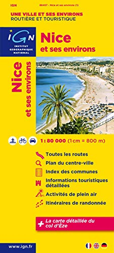 9782758523994: Nice & Surroundings 1:80K IGN (English and French Edition)